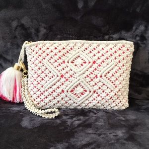 Lilly Pulitzer Boho Wristlet Resort White